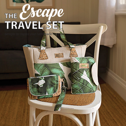 Escape Travel Set sewing pattern book, a book of travel inspired patterns