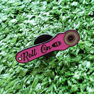 roll on enamel pin