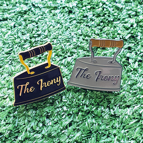 the irony collectable enamel pin
