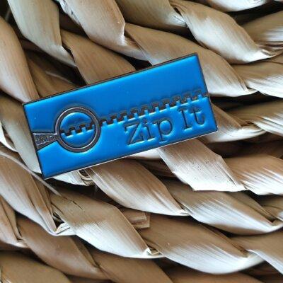 Zip It Soft Enamel Pin
