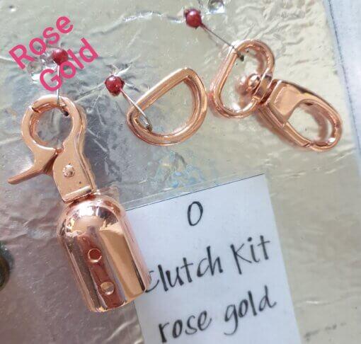 Rose Gold Clutch Hardware Kit