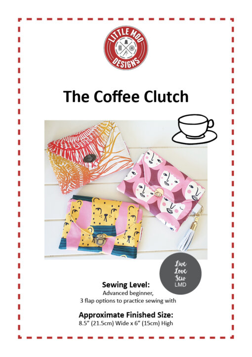 Little Moo Designs The Coffee Clutch