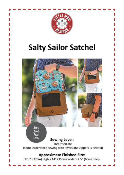 Little Moo Designs Salty Sailor Satchel Bag