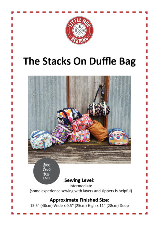 Little Moo Designs The Stacks On Duffle Bag