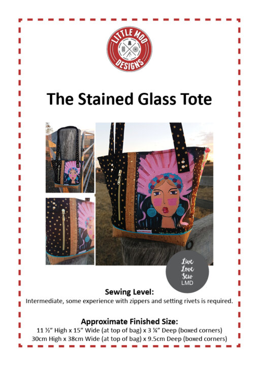 Little Moo Designs The Stained Glass Tote Bag